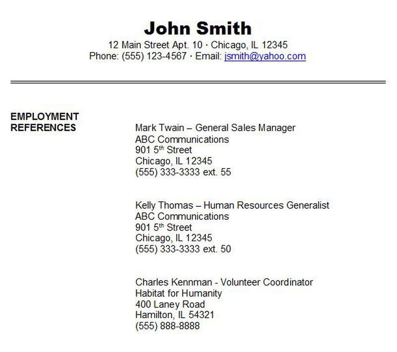 Resume Reference Sheet gallery of resume references format Part 1 Do You Need A Reference Page In Your Resume