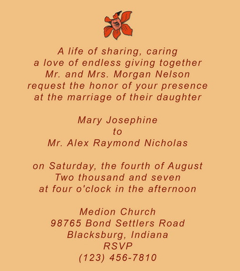 Special Wedding Invitation Quotes Sample Unique Wedding